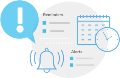 Get notifications with date based reminders and calculation based alerts