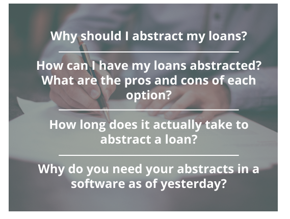 loan abstract questions you should be asking